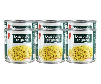 Auchan Maíz dulce Lata de 140 grs pack de 6