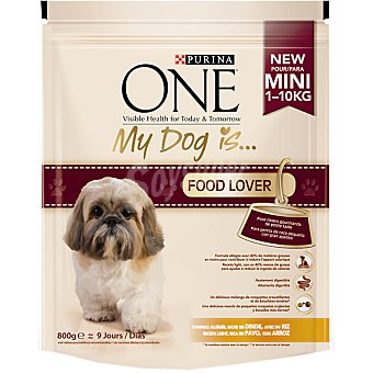 One Purina My Dog is Food Lover pavo Paquete 800 g