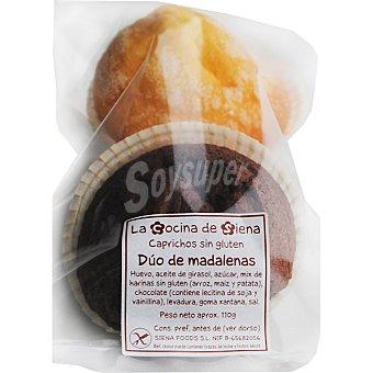 LA COCINA DE SIENA Magdalenas sin gluten 2 unidades envase 100 g 2 unidades