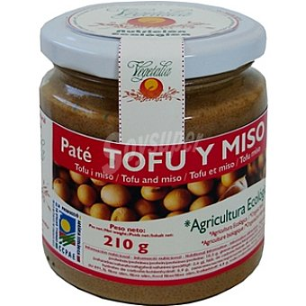 VEGETALIA Paté ecológico vegetal de tofu y miso Envase 210 g