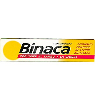 Binaca Dentífrico familiar Tubo 75ml.