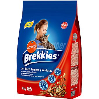 Brekkies Affinity Mix de buey para gato Saco 4 kg