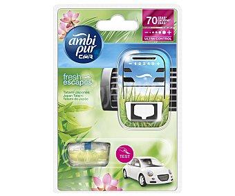 AMBIPUR CAR Ambientador de Coche para Rejilla de Ventilación + Recambio con Olor Respira Aire Puro 1 Unidad