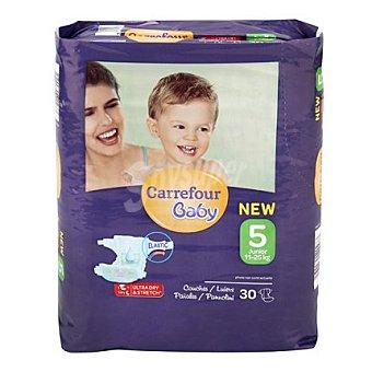 Carrefour Baby Pañal T5 de 11 a 25 kg. Maxi 30 ud