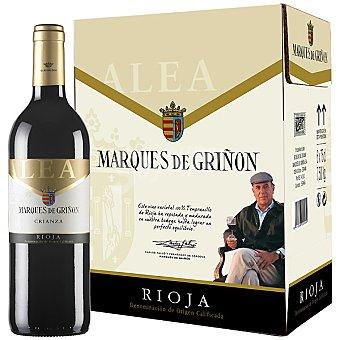 MARQUES DE GRIÑON ALEA Vino tinto crianza D.O. Rioja Caja 6 botellas 75 cl 6 botellas 75 cl