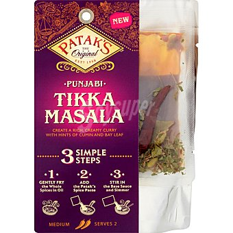 Patak's Tikka masala 3 pasos Bolsa 313 g