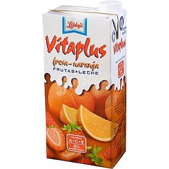 LIBBY'S VITAPLUS Zumo de fruta fresa naranja + leche Envase 1 l