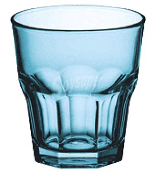 Carrefour Home Vaso casablanca agua pintado azul 27CL
