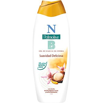 NB Palmolive gel de baño con Aceite de Macadamia extracto de cacao y leche hidratante Bote 600 ml