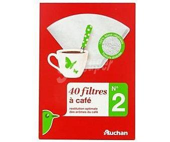 Auchan / filtro cafe 1X2 40und