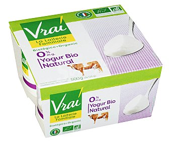 Vrai Yogur Natural Desnatado 4x125g