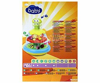 Baby Auchan Abejita de Colores Vivos con Pulsador para hacerla girar 1 Unidad