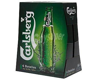 Carlsberg Cerveza Pack 6 botellines x 25 cl