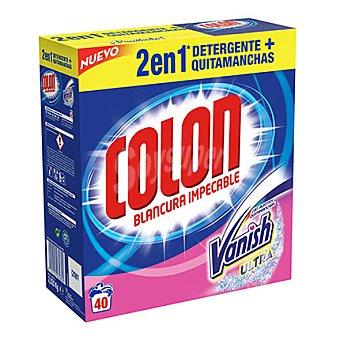 Colón Detergente en polvo con Vanish 40 cacitos