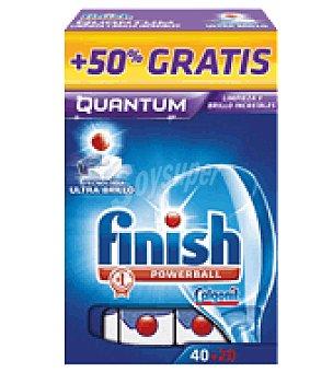 FINISH CALGONIT Lavavajillas Quantum pastillas 40 ud