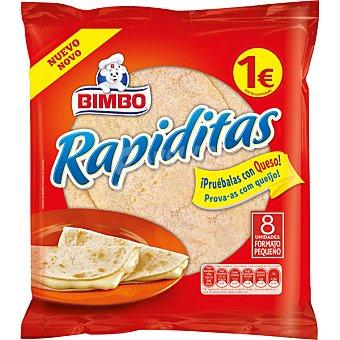 BIMBO Rapiditas Tortitas envase 168 g 8 unidades