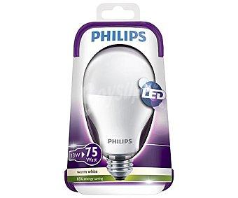 Philips Bombilla led esférica de 13W, con casquillo E27 (grueso) y luz cálida philips