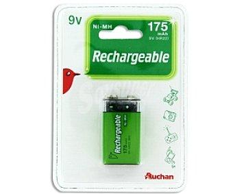 Auchan Pila recargable 9V HR22 ni-mh 175 Mah 1 unidad