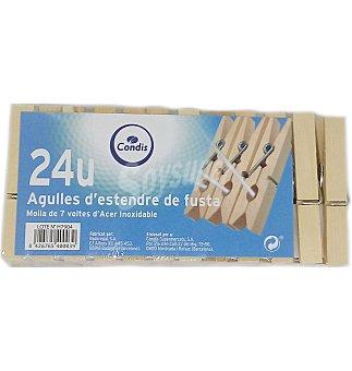 Condis Pinzas de madera 24 unidades