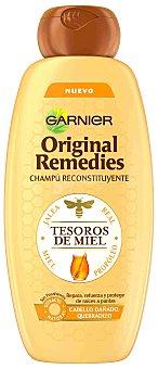 Garnier Champú reconstituyente tesoros de miel para cabello dañado y quebradizo bote 400 ml