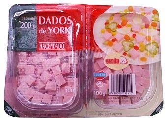 HACENDADO Jamón cocido taquitos 2 u x 100 g