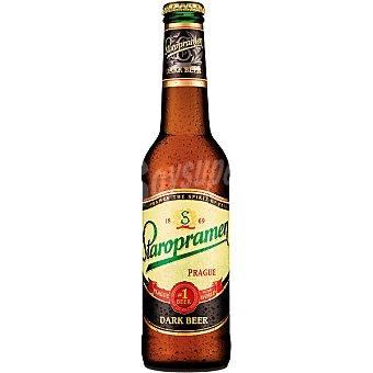 STAROPRAMEN cerveza negra checa botella 33 cl