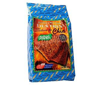 Santiveri Pan de molde integral tostado con semillas de chía alto contenido en fibra  Envase 300 g