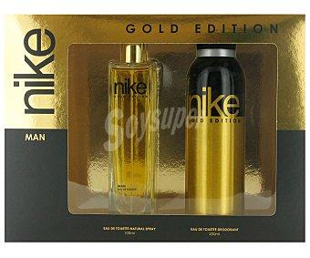 NIKE GOLD Estuche Colonia Hombre : Colonia 100ml+ Desodorante 200ml 1 Unidad