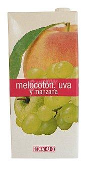 Hacendado Zumo melocoton uva y manzana Brick 1 l