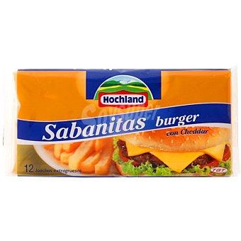 HOCHLAND Sabanitas Queso cheddar fundido 12 lonchas Bolsa 250 g
