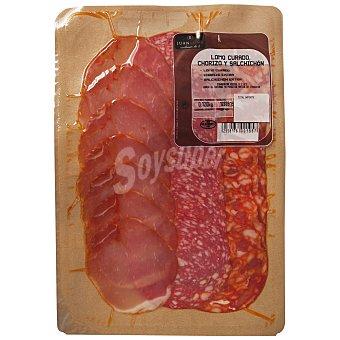 Abrilisto Surtido de embutido blanco (lomo, chorizo y salchichón) Envase de 120 g