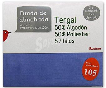 Auchan Funda de almohada color lavanda, 105 centímetros 1 Unidad