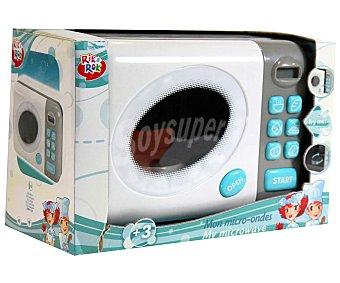 Rik&Rok Auchan Mi primer Microondas para jugar, con Luces y Sonidos, Motiva el Juego Simbólico 1 Unidad