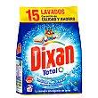 Detergente máquina polvo Bolsa 15 cacitos Dixan