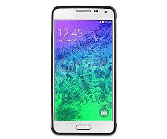 MUVIT Carcasa trasera para Samsung Galaxy Alpha Minigel, Negra (teléfono no incluido)