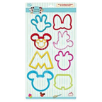 Disney Family Bakery Cortador de galletas con perfiles de Mickey y Minnie 9 unidades 9 unidades