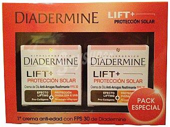 Diadermine Lote facial Nº 110 antiedad crema día con FPS30 Pack 2 tarros x 50 cc