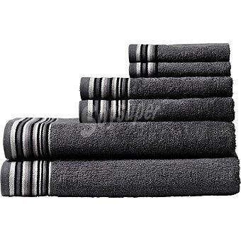 Casactual Juego de 6 toallas en color gris