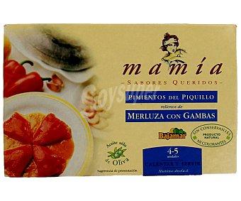 Mamía Pimientos del piquillo rellenos de merluza y gambas 230 gramos
