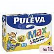Leche de crecimiento, enriquecida con calcio, hierro, 12 vitaminas y Omega 3, para mayores de 3 años crecimiento + desarrollo 6 x 1 l Puleva Max