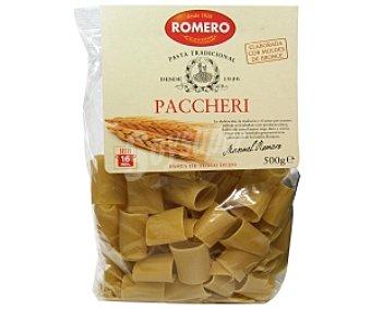ROMERO Pasta tradicional Paccheri de trigo duro 500 Gramos