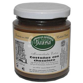 CONSERVAS ARTESANAS JUANA Mermelada de castaña y chocolate Frasco 300 g