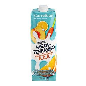 Carrefour Zumo c/leche Mediterraneo 1 l
