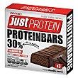 Barritas sabor chocolate intenso Protein Pack de 3 barritas de 35 g Just