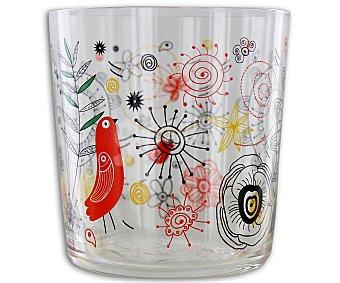 GSMD Vaso bajo para pinta fabricado en cristal y con diseño multicolor 1 Unidad