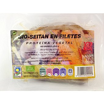 BIOSISEA Seitán fresco en filetes Paquete 300 g