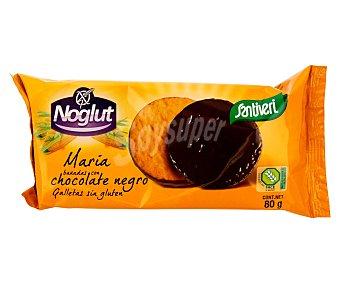 NOGLUT Galletas María bañadas con chocolate negro sin gluten (controlado por face) 80 g