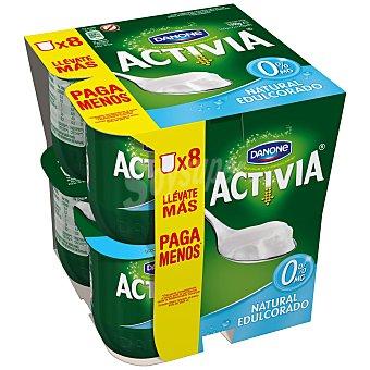 DANONE ACTIVIA Yogur natural edulcorado desnatado 0% Materia Grasa pack 8 unidades 125 g
