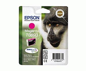 Epson Cartucho Magenta T0893 - Compatible con Impresoras: stylus S / 20 / 21 stylus SX / 100 / 105 / 110 / 115 / 205 / 215 / 218 / 405 / 415 office BX / 300F