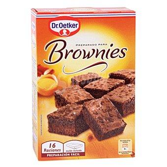 DR.OETKER preparado para brownies 16 raciones con molde incluido estuche 456 g